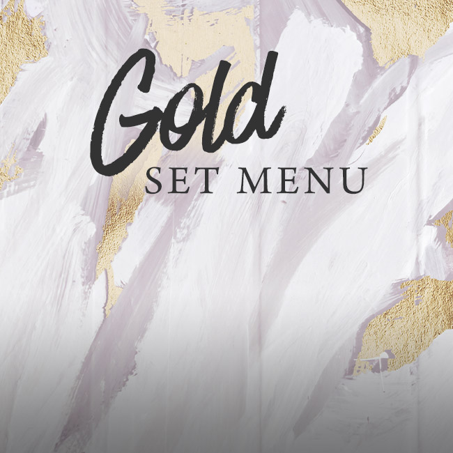 Gold set menu at The Hole in the Wall