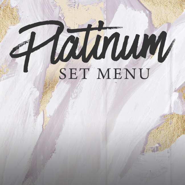 Platinum set menu at The Hole in the Wall