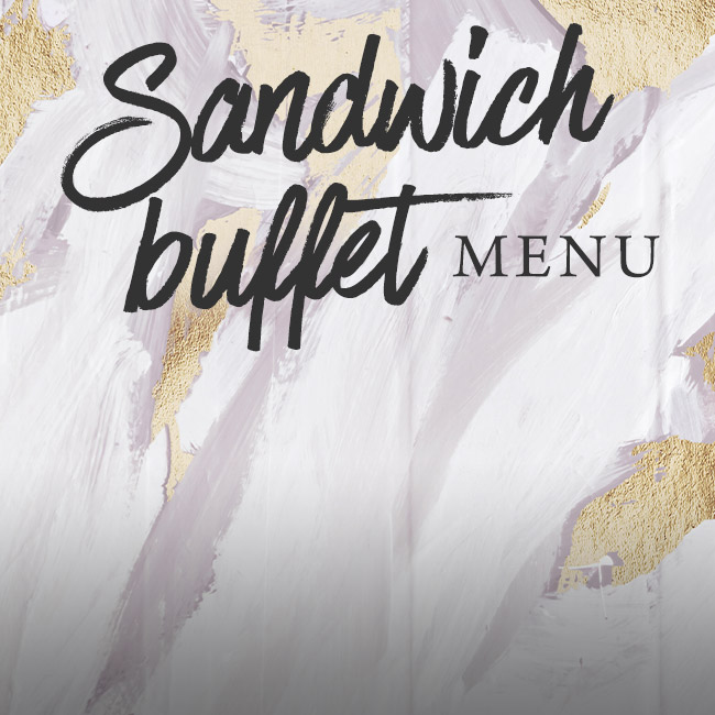 Sandwich buffet menu at The Hole in the Wall