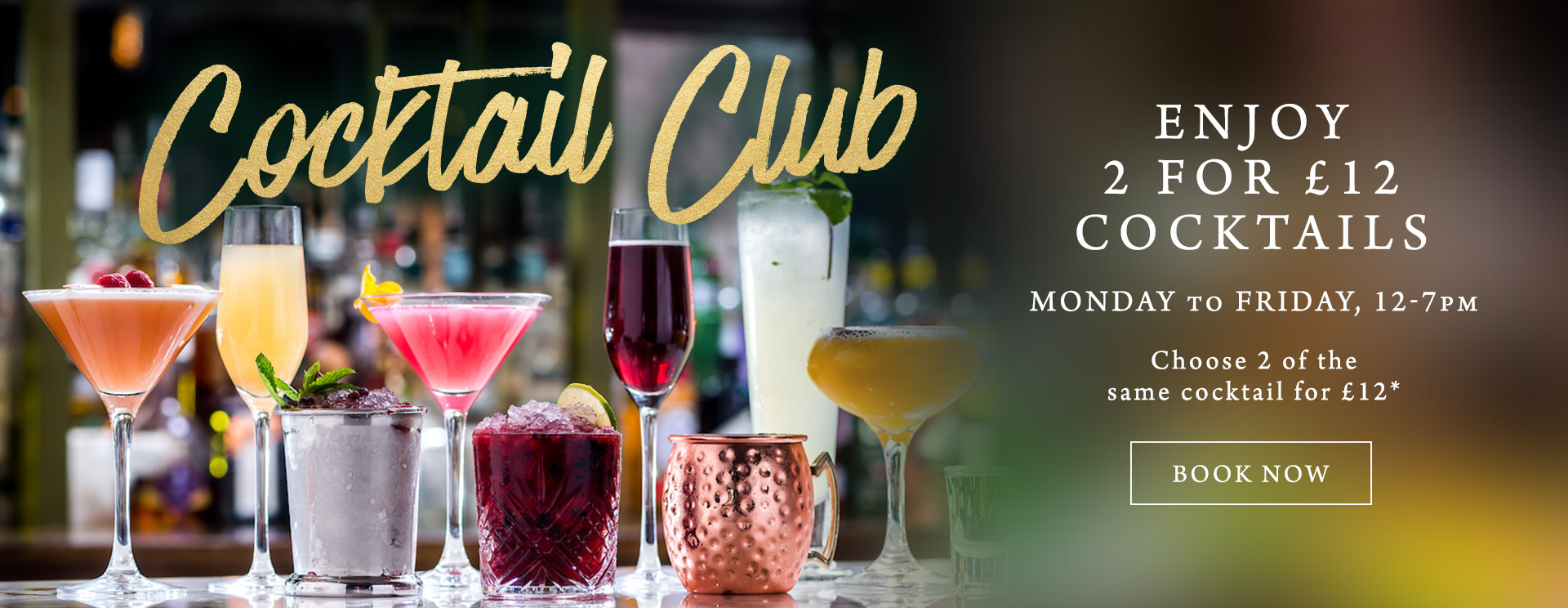 2 for £12 cocktails at The Hole in the Wall